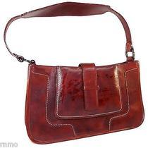 Bcbg Maxazria Women's Red Mahogany Leather Shoulder Handbag Purse Photo