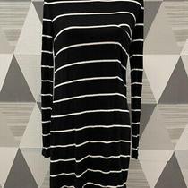 Bcbg Maxazria Women's Size Xs Black Striped Crew Neck Long Sleeve Dress 9c56 Photo