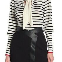 Bcbg Maxazria Women's Striped Tie Neck Pullover Sweater Size Sm Nwt B85 Photo