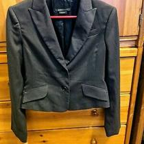 Bcbg Maxazria Womens Brown Short Blazer Jacket Long Sleeves Size Small - Euc Photo