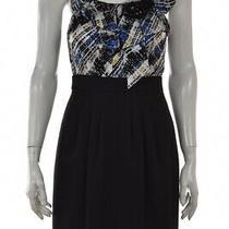 Bcbg Maxazria Womens Dress Size 2 Black Printed Sheath Above Knee Sleeveless Photo