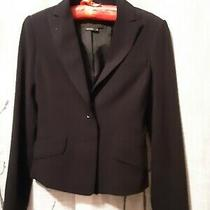 Bcbg Maxazria Womens Natasha Two Button Blazer Black Cotton Size Xsmall Photo