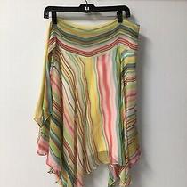 Bcbg Maxazria Womens Rainbow Color Flutter Silk Skirt Size Xs Photo