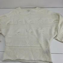Bcbg Maxazria Womens Sweater Dolman Sleeve Creme Chunky Knit Sz L Photo