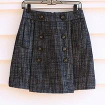 Bcbg Maxazria Wool Blend Penny Tweed Skirt Size 2 Womens Button Detail Photo