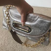 Bcbg Metallic Leather Clutch Photo