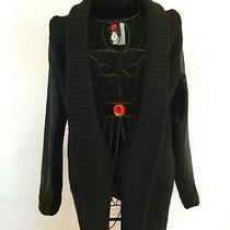 Bcbg Open Front  Black Knit Cardigan Size M  Photo