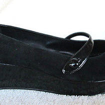 Bcbg Paris...black...mary Jane...platform...wedge...heels...ex Con...sz 11 Photo