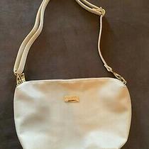 Bcbg Paris Crossbody Purse Black Handbag Tote Gold Adjustable Strap Medium Long Photo
