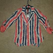 Bcbg Paris Nwt Ladies Lightweight Bright Colorful Blazer Size 8 Photo