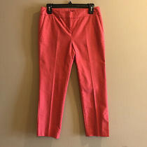 Bcbg Paris Pink Cropped Trouser Pants Womens Size 2 Dressy Office Casual Dress Photo