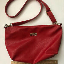 Bcbg Paris Red Purse With Pebbled Leather  Pre-Owned Photo