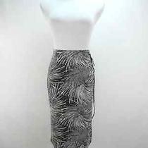 Bcbg Paris Tie Wrap Pencil Skirt Size S  Small Black and White Print Stretch  Photo