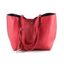 Bcbg Paris Women Red Leather Tote One Size Photo