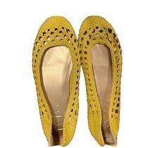 Bcbg Paris Woven Ballet Flats Yellow Size 6.5 Photo
