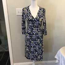 Bcbg Paris Wrap Dress Women Medium 3/4 Sleeve Knee Length v-Neck Euc Photo