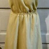 Bcbg Paris Yellow Sleeveless Dress M Juniors Photo