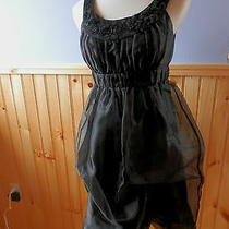 Bcbg....perfect Little Black Dress Flirty Party Girl Bubble Style Dress...size 2 Photo