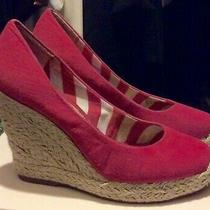 Bcbg Pink Espadrille Sandal Wedge 8 Photo
