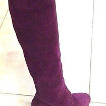 Bcbg  Purple Suede Boots Ladies Sz 7.5 Photo