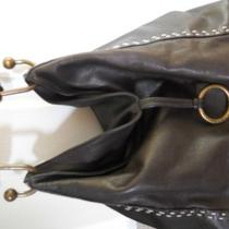 Bcbg Purse Brown Leather Hobo Photo