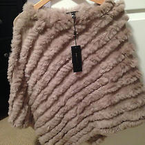 Bcbg Rabbit Fur Poncho Brand New With Tags Photo