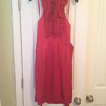 Bcbg Red Halter Dress Photo