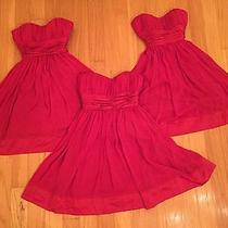 Bcbg Red Strapless Dress Photo