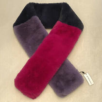Bcbg Scarf New With Tags Fuzzy Furry Wrap Pink Purple & Navy Bcbgeneration Photo