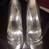 Bcbg Silver Heels Size 7 1/2 7.5 Wedding Shoes Party Shoes Club Shoes Photo