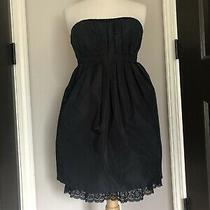 Bcbg Strapless Black Silk Dress Size 8 Photo