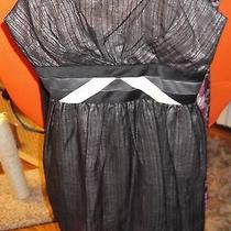 Bcbg Strapless Formal Dress 4 Short Mini Black W/pink - Prom Home Coming Wedding Photo