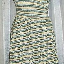 Bcbg Striped Wrap Dress Medium  Photo