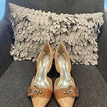 Bcbg Tan Two Tone Leather Heels Size 8 Photo