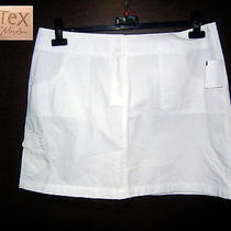 Bcbg Tex Max Azria Mini Skirt 10 Nwt Optic White 100% Cotton 5 Pockets New Photo