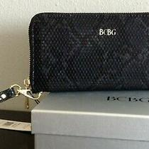 Bcbg Women's Zip Around Wristlet Wallet Black