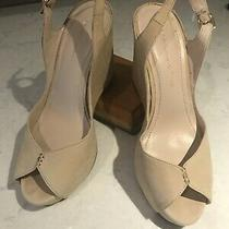 Bcbg Women Shoes Size 8.5 B Us/eu 38.5 Beige Suede Wedges 4