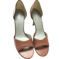 Bcbg Womens Shoes Brown Leather d'orsay High Heels Stiletto Pumps 10m / 40b Photo