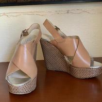 Bcbg Womens Wedge Sandals Size 6 Slingback Tan Photo