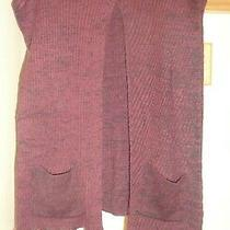 Bcbgeneration  Brulee Burgundy  Slit Front   Pullover  Sweater Poncho Nwt Os Photo