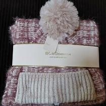 Bcbgeneration Loop Scarf & Hat Set - Blush Photo
