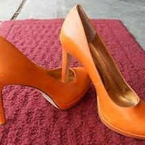 Bcbgeneration Shoes Orange Platform Pumps Size 9 B Stiletto (Bcbg) Photo