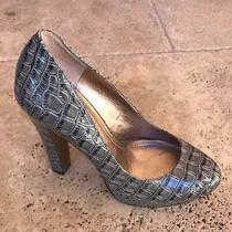 Bcbgeneration Women Platform Heels Size 8 Platform Shoes Croc Print Photo
