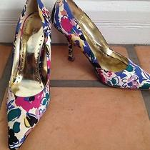 Bcbgirls Pumps Shoes Heels Floral Leather 4 1/2