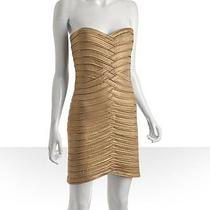 Bcbgmaxazria Gold Body Con Size Medium Dress Photo