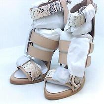 Bcbgmaxazria Womens Gloria Leather Open Toe Formal Ankle Blush/tea Rose Size Photo