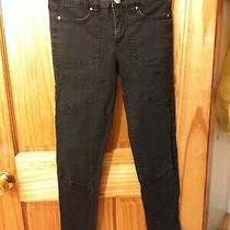 Bdg by Urban Outfitters Women's Black Skinny Jeans W/ Ankle Zippers Size 26 Photo