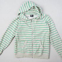 Bdg Green Striped Hoodie Hoody Hooded Sweatshirt Men's L Large Urban Outfitters Photo
