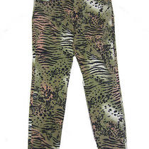 Bdg Urban Outfitters 27 Jeans Nwot Grreen Black Wild Animal Print Skinny Leg Photo