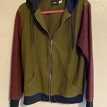Bdg Urban Outfitters Hoodie Mens Zip Up Jacket Sweatshirt Colorblock Size Small Photo